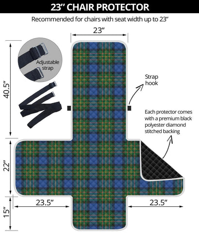 Clan MacLaren Ancient Plaid Sofa Protector - 23 Inches