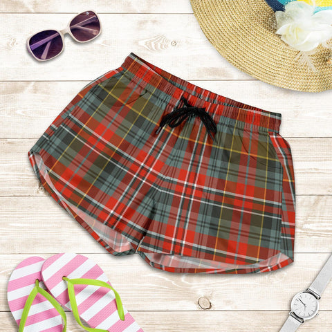 Macpherson Weathered Tartan Shorts For Women Th8