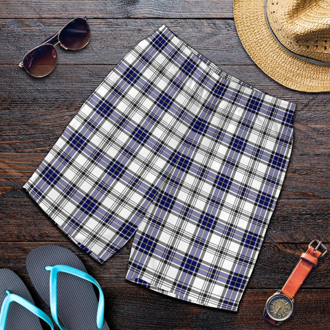 Image of Tartan Mens Shorts - Clan Hannay Modern Plaid Shorts