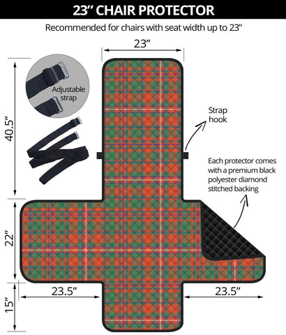 Clan MacKinnon Ancient Plaid Sofa Protector - 23 Inches