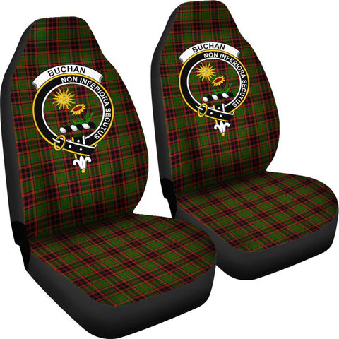 ScottishShop Seat Cover - Tartan Crest Buchan Car Seat Cover Clan Badge - Universal Fit