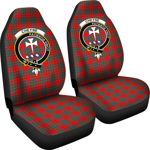 ScottishShop Seat Cover - Tartan Crest Cheyne Car Seat Cover Clan Badge - Universal Fit