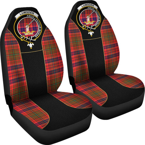 ScottishShop Seat Cover - Tartan Crest Lumsden Tartan Car Seat Cover Clan Badge - Special Version - Universal Fit