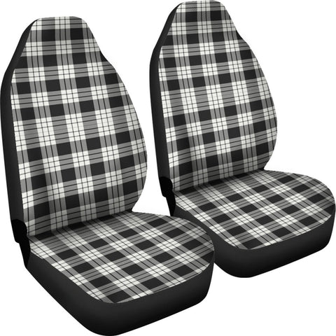 Seat Cover - Tartan Macfarlane Black _ White Ancient Car Seat Cover - Universal Fit