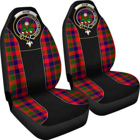 ScottishShop Seat Cover - Tartan Crest Gow (Of Skeoch) Tartan Car Seat Cover Clan Badge - Special Version - Universal Fit