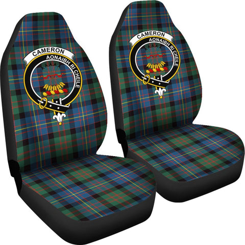 ScottishShop Seat Cover - Tartan Crest Cameron Of Errach Car Seat Cover Clan Badge - Universal Fit