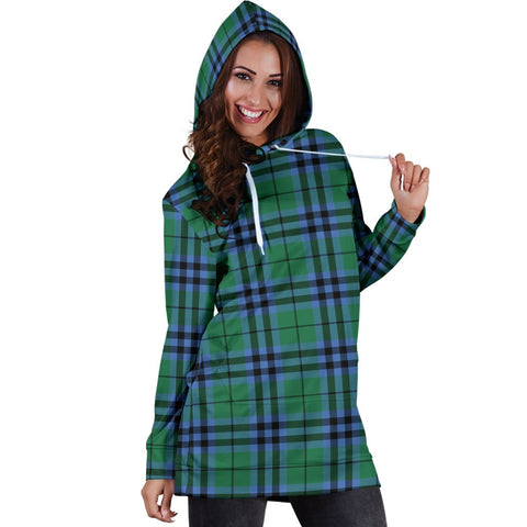 ScottishShop Hoodie Dress - Keith Ancient  Tartan Hooded Dress