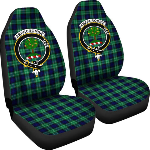ScottishShop Seat Cover - Tartan Crest Abercrombie Car Seat Cover Clan Badge - Universal Fit