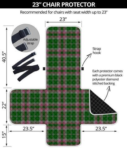 Clan Gray Hunting Plaid Sofa Protector - 23 Inches