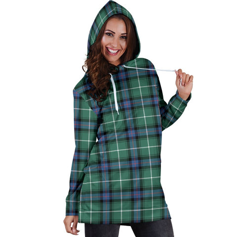 ScottishShop Hoodie Dress - MacDonald of the Isles Hunting Ancient Tartan Hooded Dress
