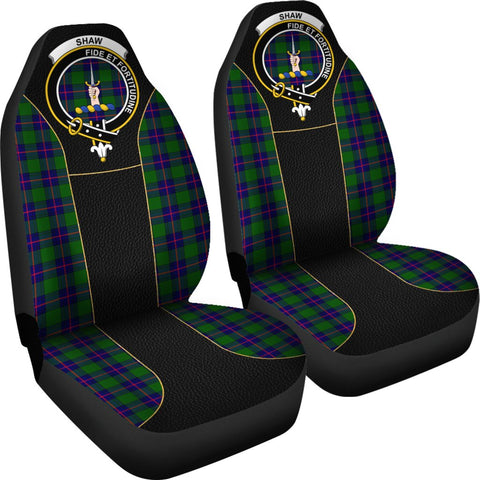 ScottishShop Seat Cover - Tartan Crest Shaw (Of Tordarroch) Tartan Car Seat Cover Clan Badge - Special Version - Universal Fit