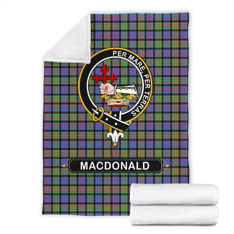 Image of MacDonald (Clan Donald) Crest Tartan Blanket | Tartan Home Decor | ScottishShop