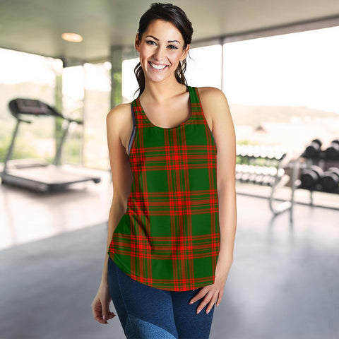 ScottishShop Menzies Green Modern Tartan Women Racerback Tank