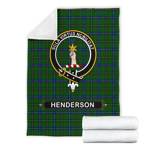 Image of Henderson (MacKendrick) Crest Tartan Blanket | Tartan Home Decor | ScottishShop