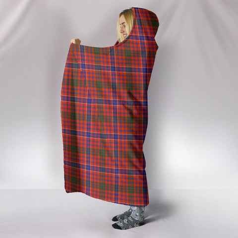 Image of MacRae Ancient, hooded blanket, tartan hooded blanket, Scots Tartan, Merry Christmas, cyber Monday, xmas, snow hooded blanket, Scotland tartan, woven blanket