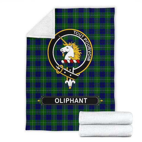 Oliphant Crest Tartan Blanket | Tartan Home Decor | ScottishShop