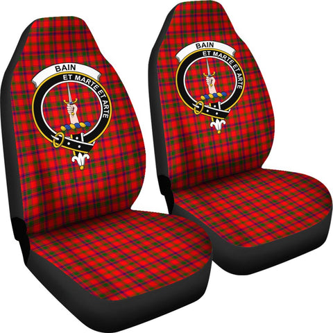 ScottishShop Seat Cover - Tartan Crest Bain Car Seat Cover Clan Badge - Universal Fit