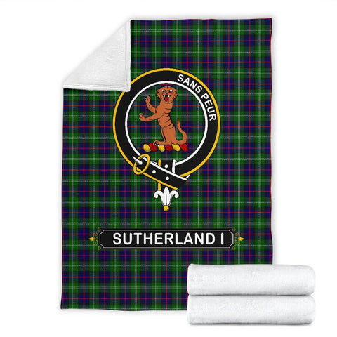 Sutherland I Crest Tartan Blanket | Tartan Home Decor | ScottishShop