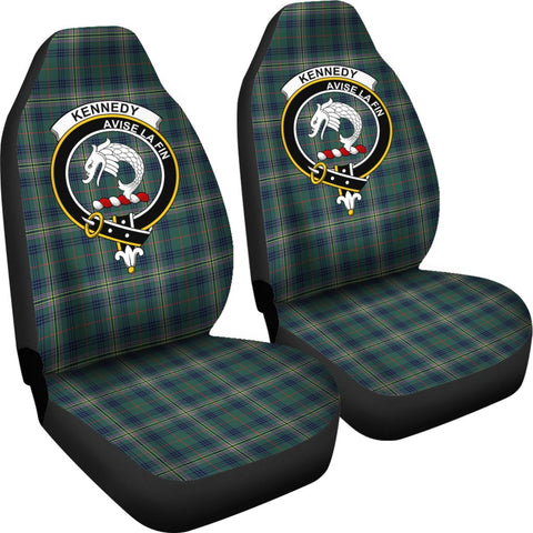 ScottishShop Seat Cover - Tartan Crest Kennedy Car Seat Cover Clan Badge - Universal Fit