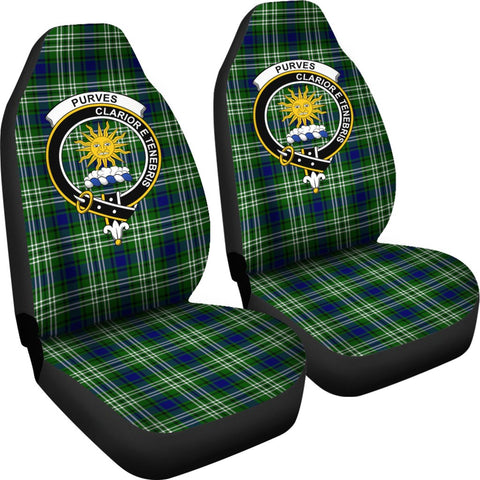 Seat Cover - Tartan Crest Purves Car Seat Cover - Universal Fit