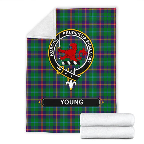 Young Crest Tartan Blanket | Tartan Home Decor | ScottishShop