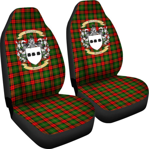 ScottishShop Seat Cover - Tartan Crest Blackstock Car Seat Cover Clan Badge - Universal Fit
