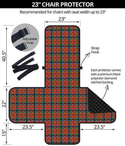 Clan MacNaughton Ancient Plaid Sofa Protector - 23 Inches