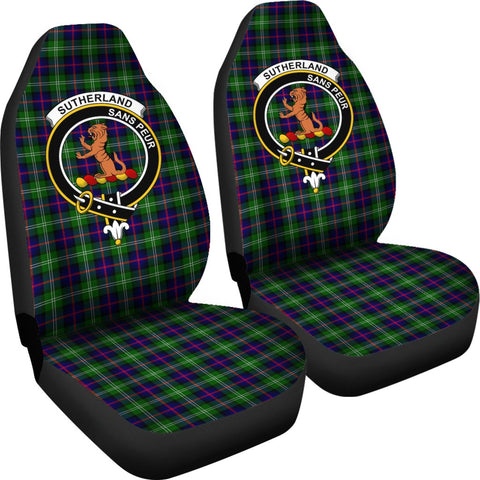 ScottishShop Seat Cover - Tartan Crest Sutherland Ii Car Seat Cover - Universal Fit