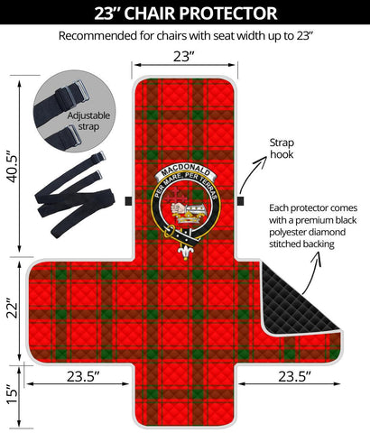 Clan MacDonald of Sleat Plaid & Crest Tartan Sofa Protector - 23 Inches