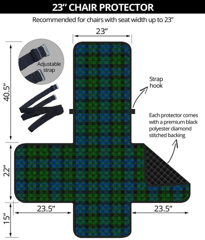 Clan MacKay Modern Plaid Sofa Protector - 23 Inches