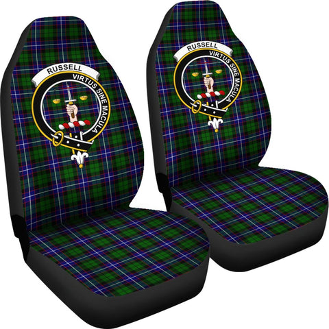 Image of Seat Cover - Tartan Crest Russell Car Seat Cover - Universal Fit