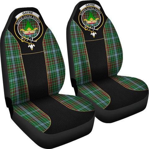 ScottishShop Seat Cover - Tartan Crest Gayre Tartan Car Seat Cover Clan Badge - Special Version - Universal Fit