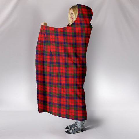 Image of Robertson Modern, hooded blanket, tartan hooded blanket, Scots Tartan, Merry Christmas, cyber Monday, xmas, snow hooded blanket, Scotland tartan, woven blanket