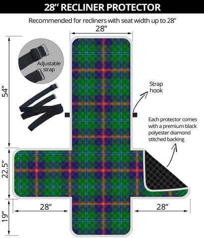 Image of Young Modern Tartan Recliner Sofa Protector | Tartan Home Set