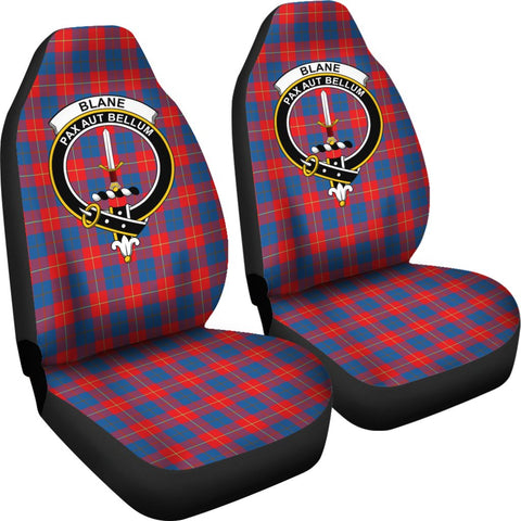 ScottishShop Seat Cover - Tartan Crest Blane Car Seat Cover Clan Badge - Universal Fit