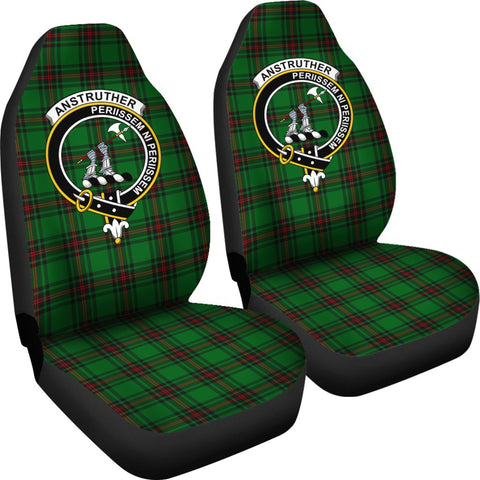 ScottishShop Seat Cover - Tartan Crest Anstruther Car Seat Cover Clan Badge - Universal Fit