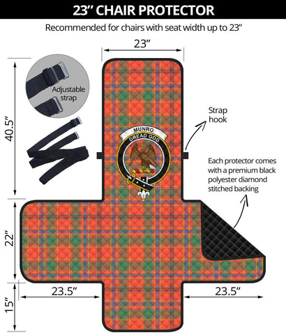 Clan Munro Ancient Plaid & Crest Tartan Sofa Protector - 23 Inches