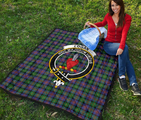 Image of Premium Quilt - Logan Ancient Tartan Quilt - Clan Crest TH8