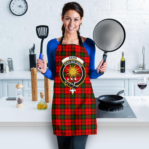Image of Tartan Apron - Kerr Modern Apron With Clan Crest HJ4