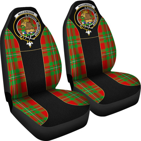 ScottishShop Seat Cover - Tartan Crest Macgregor Tartan Car Seat Cover Clan Badge - Special Version - Universal Fit