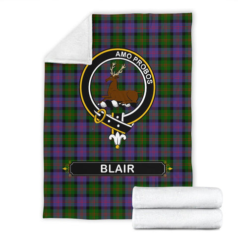 Blair Crest Tartan Blanket | Tartan Home Decor | ScottishShop