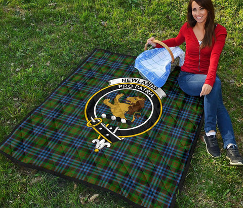 Premium Quilt - Newlands of Lauriston Tartan Quilt - Clan Crest TH8