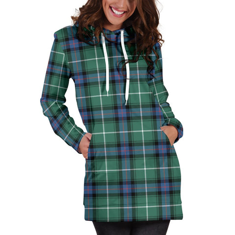 Image of ScottishShop Hoodie Dress - MacDonald of the Isles Hunting Ancient Tartan Hooded Dress