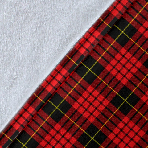 Image of MacQueen Crest Tartan Blanket | Tartan Home Decor | ScottishShop