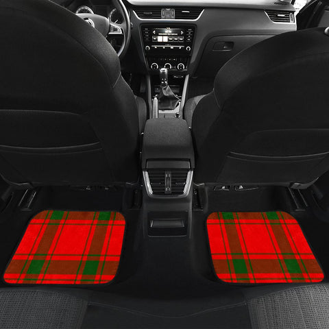 Car Floor Mats - Clan Darroch Crest And Plaid Tartan Car Mats - 4 Pieces