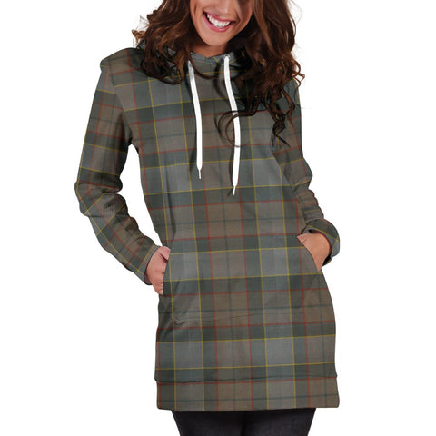 Hoodie Dress - Outlander Fraser Tartan Hooded Dress