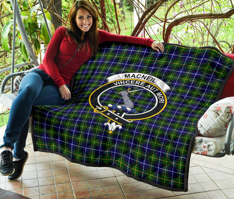 Image of Premium Quilt - MacNeill of Barra Modern Tartan Quilt - Clan Crest TH8