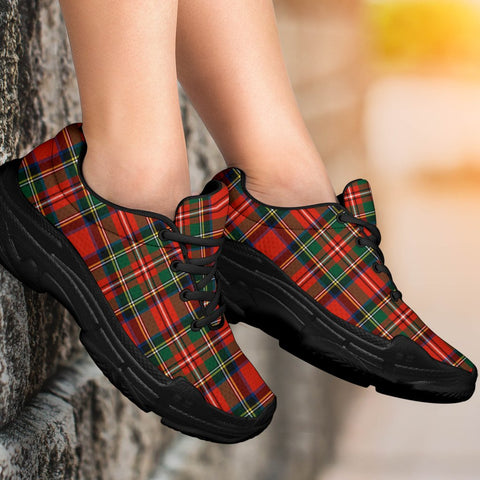 Image of Chunky Sneakers - Tartan Stewart Royal Modern Shoes