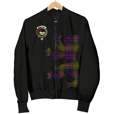 Image of ScottishShop Tartan Bomber Jacket - MacDonald (Clan Donald) Tartan Lion & Thistle Men Jacket