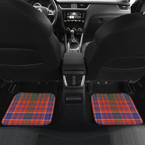 Car Floor Mats - Clan Macrae Ancient Crest And Plaid Tartan Car Mats - 4 Pieces